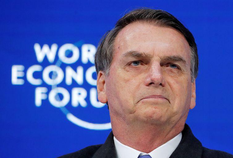 Brazil's President Jair Bolsonaro attends the World Economic Forum (WEF) annual meeting in Davos, Switzerland, January 22, 2019. REUTERS/Arnd Wiegmann
