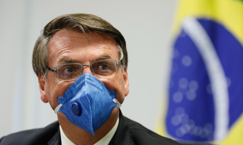 O presidente da República, Jair Bolsonaro, participa de videoconferência com representantes da Iniciativa Privada