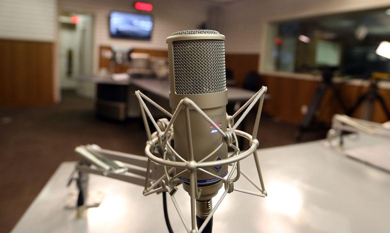Rádio, microfone, Estúdio