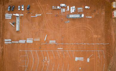 Hospital de campanha é construído no prazo de 15 dias em Águas Lindas, Goiás.