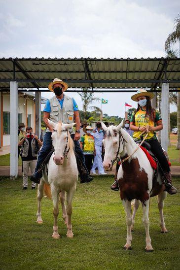 O vice-presidente da República, Hamilton Mourão, visita o Projeto Integrado de Colonização (PIC) Bela Vista, em Manaus