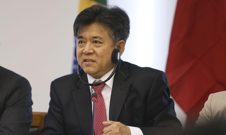 Brasília - O embaixador da China no Brasil, Li Jinzhang, durante o Encontro Empresarial Brasil-China (José Cruz/ Agência Brasil)