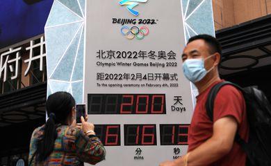 relógio, olimpíada de inverno, pequim 2022