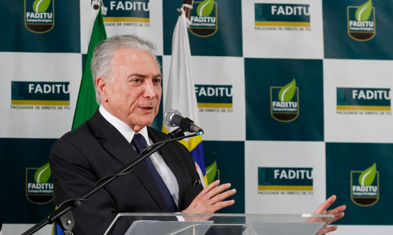 O presidente Michel Temer participa em Itu (SP) da cerimônia de inauguração do Centro de Memória Michel Temer.