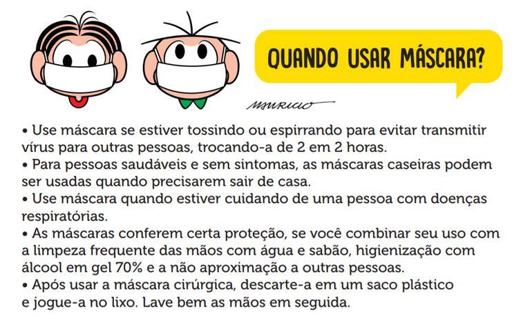 Cartilha Da Turma Da Monica Traz Informacoes Sobre Uso De Mascara
