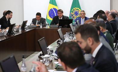 O presidente Jair Bolsonaro participa da 39ª Reunião do Conselho de Governo