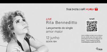 Cartaz / Live Rita Benneditto