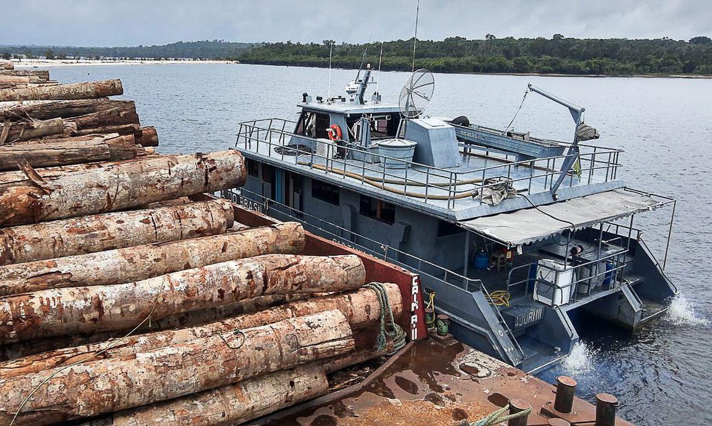 Os militares da Capitania Fluvial de Santarém (CFS) abordaram, no fim da tarde dessa segunda-feira (28), outro comboio que transportava toras de madeira extraídas da região. Uma equipe de Inspeção Naval da CFS desconfiou de uma embarcação que