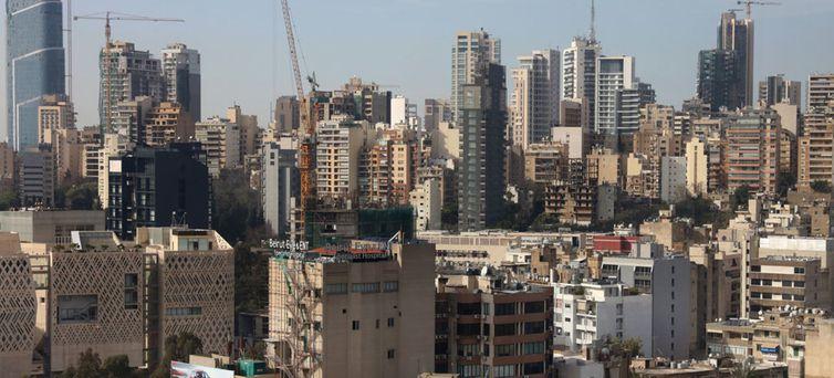 Ampla visão da cidade de Beirute