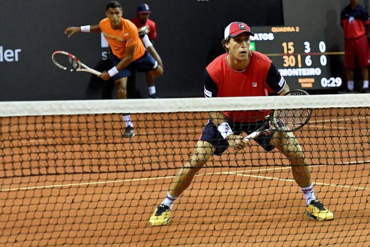 Felipe Meligeni e Thiago Monteiro no Rio Open 2020