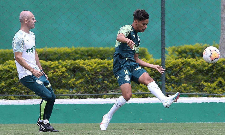 Palmeiras treina para enfrentar o River Plate pela semifinal da Libertadores 2020.