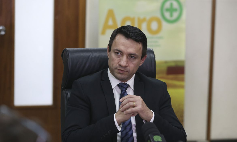 O secretário Executivo do Ministério da Agricultura, Eumar Roberto Novacki conversa com a imprensa para falar sobre as ações de transição com o novo governo.