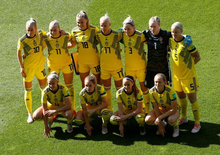 Seleção da Suécia na Copa do Mundo de Futebol Feminino - França 2019.