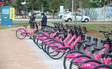 Brasilia - 11-10-21.  Governo do DF, lança parceria com empresa Tembici, o novo sistema de bicicletas compartilhadas