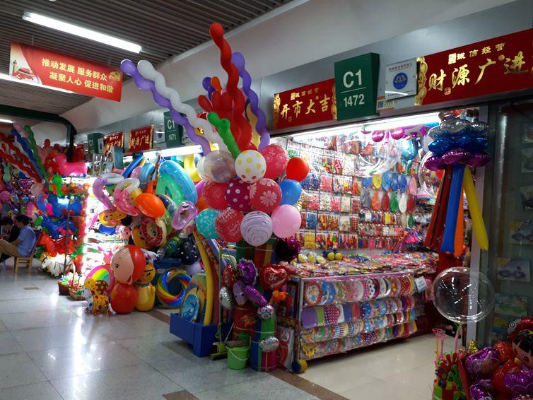Galeria de lojas na cidade chinesa de Ywu (Ana Cristina Campos/Agência Brasil)