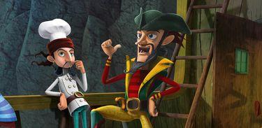 Os piratas querem capturar Leonardo