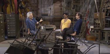 Aderbal Freire-Filho conversa com Tato Taborda e Negro Leo