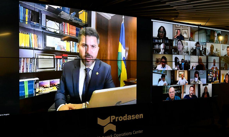 Sessão Deliberativa Remota do Congresso Nacional , apreciação do PLN 8/2020, que abre crédito de R$ 343,6 bilhões para contornar ,Senador Marcos Rogério (DEM-RO)
