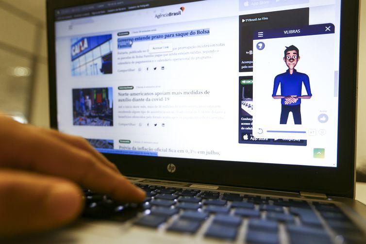 Acessibilidade no site da Agência Brasil