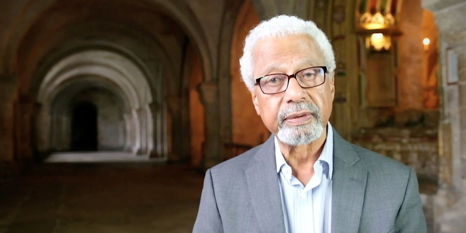Abdulrazak Gurnah reads for a Canterbury Cathedral project in Canterbury