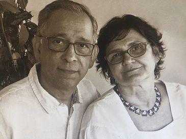 O casal de historiadores da UFMT, Pablo Diener e Maria de Fátima Costa, autores do livro Martius