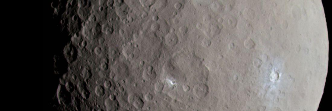 O planeta-anão Ceres, localizado entre as órbitas de Marte e Júpiter
