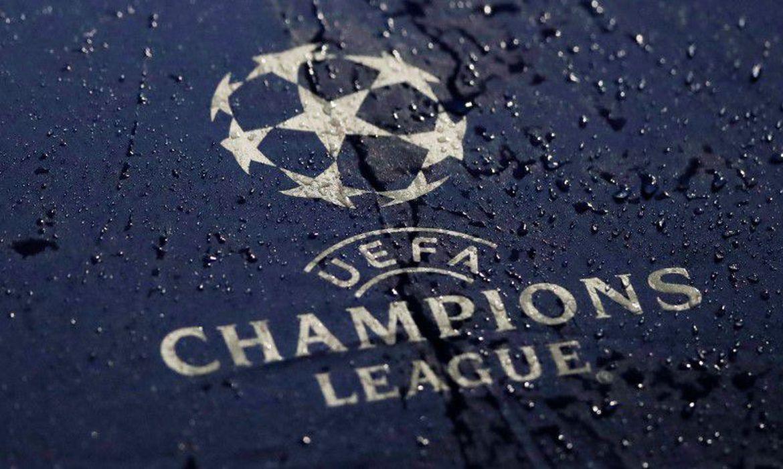Logo das Liga dos Campeões da Uefa em Liverpool