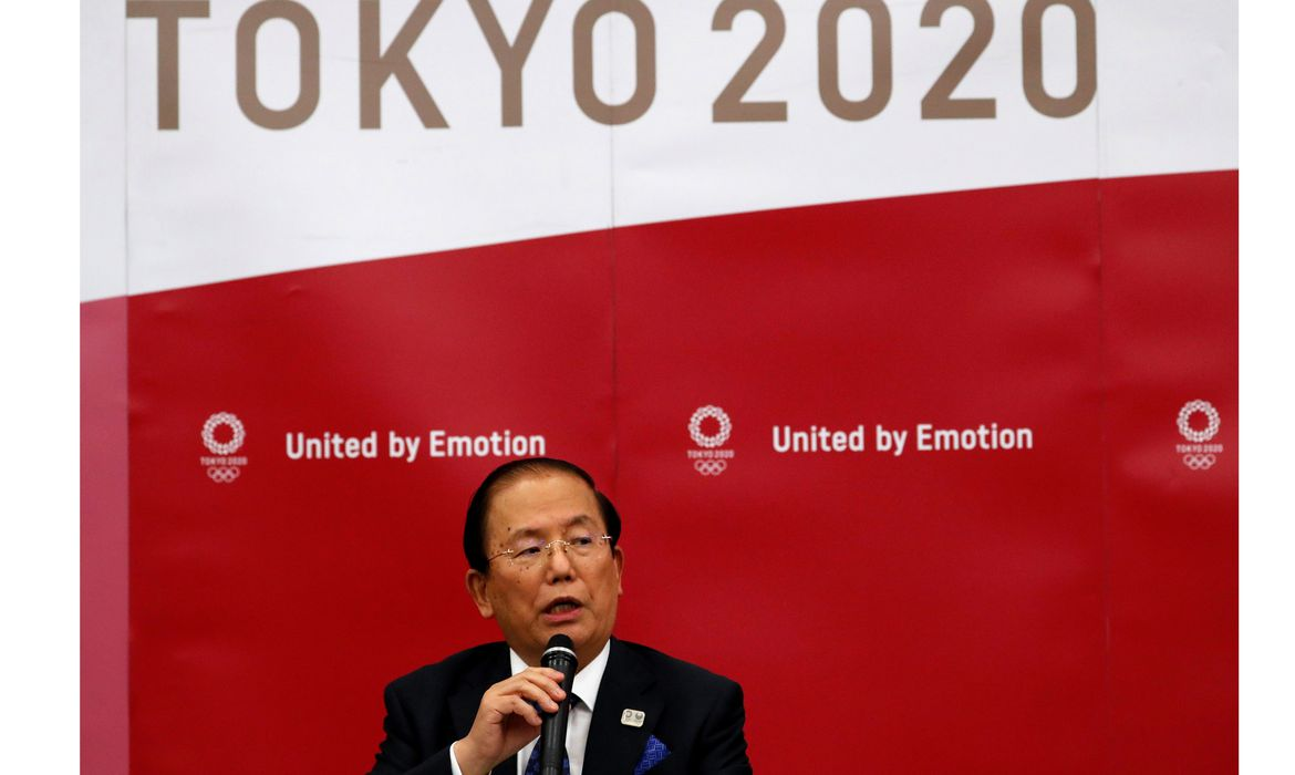 Toshiro Muto, CEO of the Tokyo 2020 Olympic Games Organising Committee, attends a news conference in Tokyo