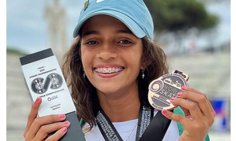 Skate: Rayssa Leal, de 13 anos, fatura bronze no Mundial de Stree