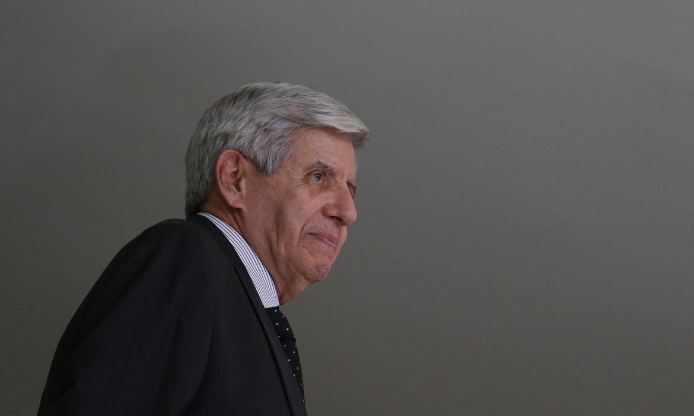 O ministro do Gabinete de Segurança Institucional, general Augusto Heleno, durante Solenidade de ampliação do Programa Educação Conectada nas Escolas e ato comemorativo ao Dia da Bandeira no Palácio do Planalto.