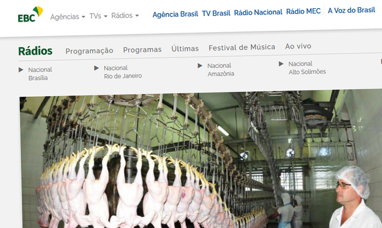 Site Rádios EBC