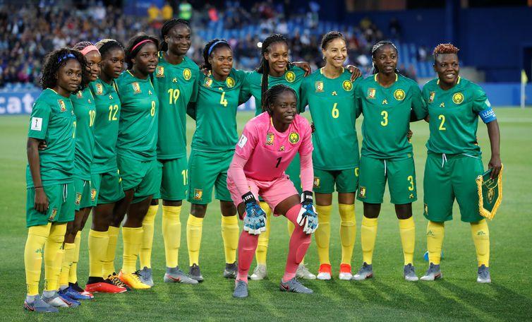 Seleção de Camarões na Copa do Mundo de Futebol Feminino - França 2019.