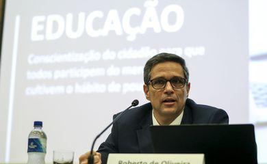O presidente do Banco Central, Roberto Campos Neto, apresenta a nova versão da agenda de medidas estruturais do Banco Central,a BC#