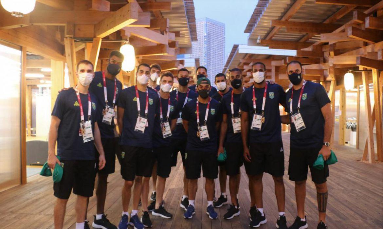delegação brasileira na vila olímpica - Tóquio 2020