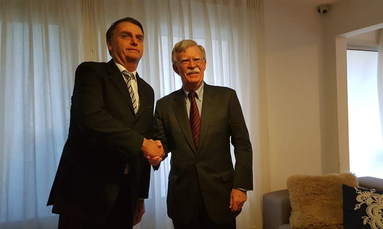 O presidente eleito, Jair Bolsonaro se reúne com assessor de Segurança Nacional dos EUA,John Bolton