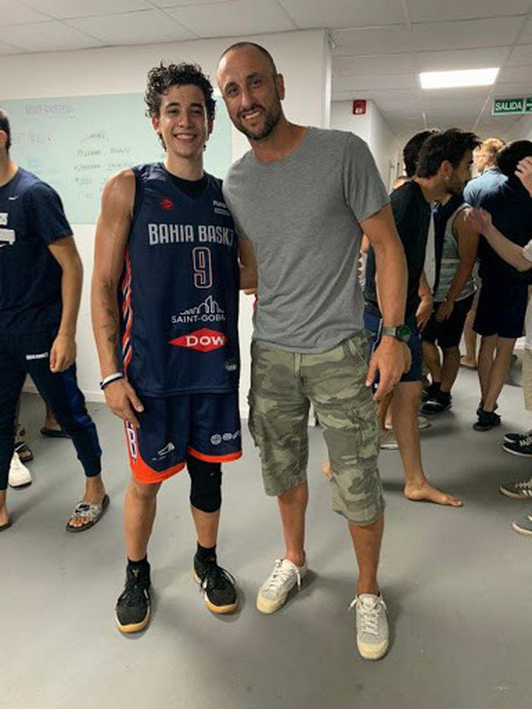 Caio Pacheco e Manu Ginobili, basquete argentino e NBA