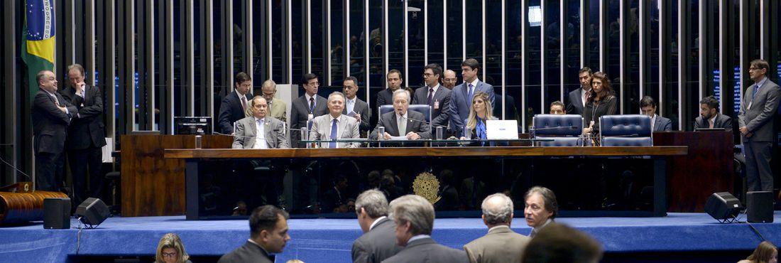 Plenário do Senado durante sessão deliberativa extraordinária para votar a Denúncia 1/2016, que trata do julgamento do processo de impeachment da presidente afastada Dilma Rousseff por suposto crime de responsabilidade