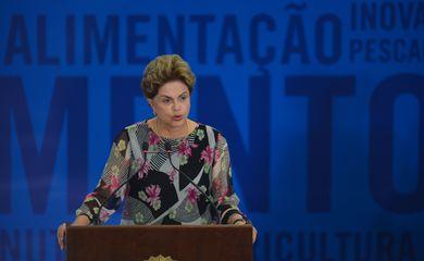 A presidenta Dilma Rousseff participa da cerimônia de entrega do 28º Prêmio Jovem Cientista, no Palácio do Planalto (José Cruz/Agência Brasil)