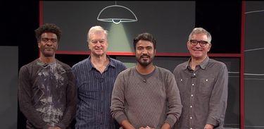 Alan Ribeiro bate um papo com o pessoal do Casseta e Planeta no Viralizando