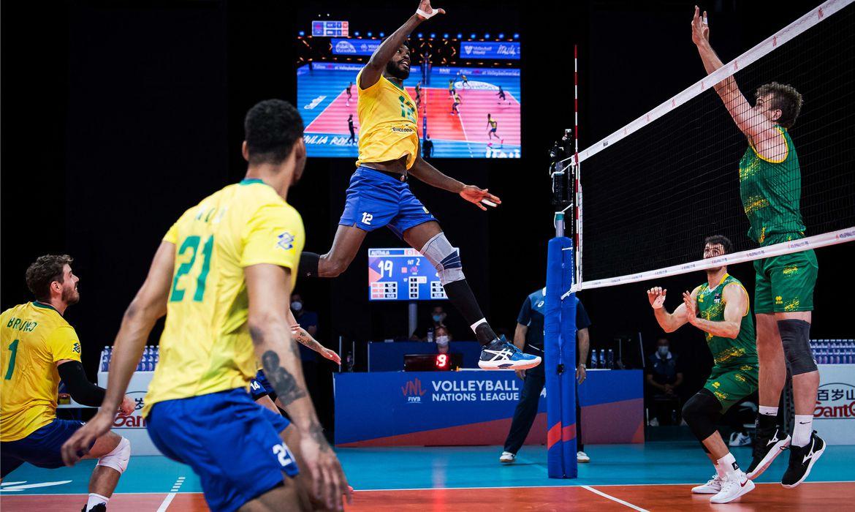 Brasil passa fácil pela Austrália na Liga das Nações.