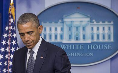 Barack Obama fala à imprensa na Casa Branca (Michael Reynolds/EPA/Agência Lusa)