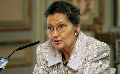 A primeira mulher presidente do Parlamento Europeu, Simone Veil - Foto/Agência EFE
