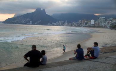 People enjoy the Ipanema beach, following the coronavirus disease (COVID-19) outbreak, in Rio de Janeiro
