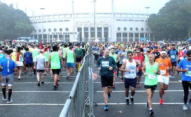 A largada e a chegada da Meia Maratona de São Paulo serão em frente ao estádio do Pacaembu