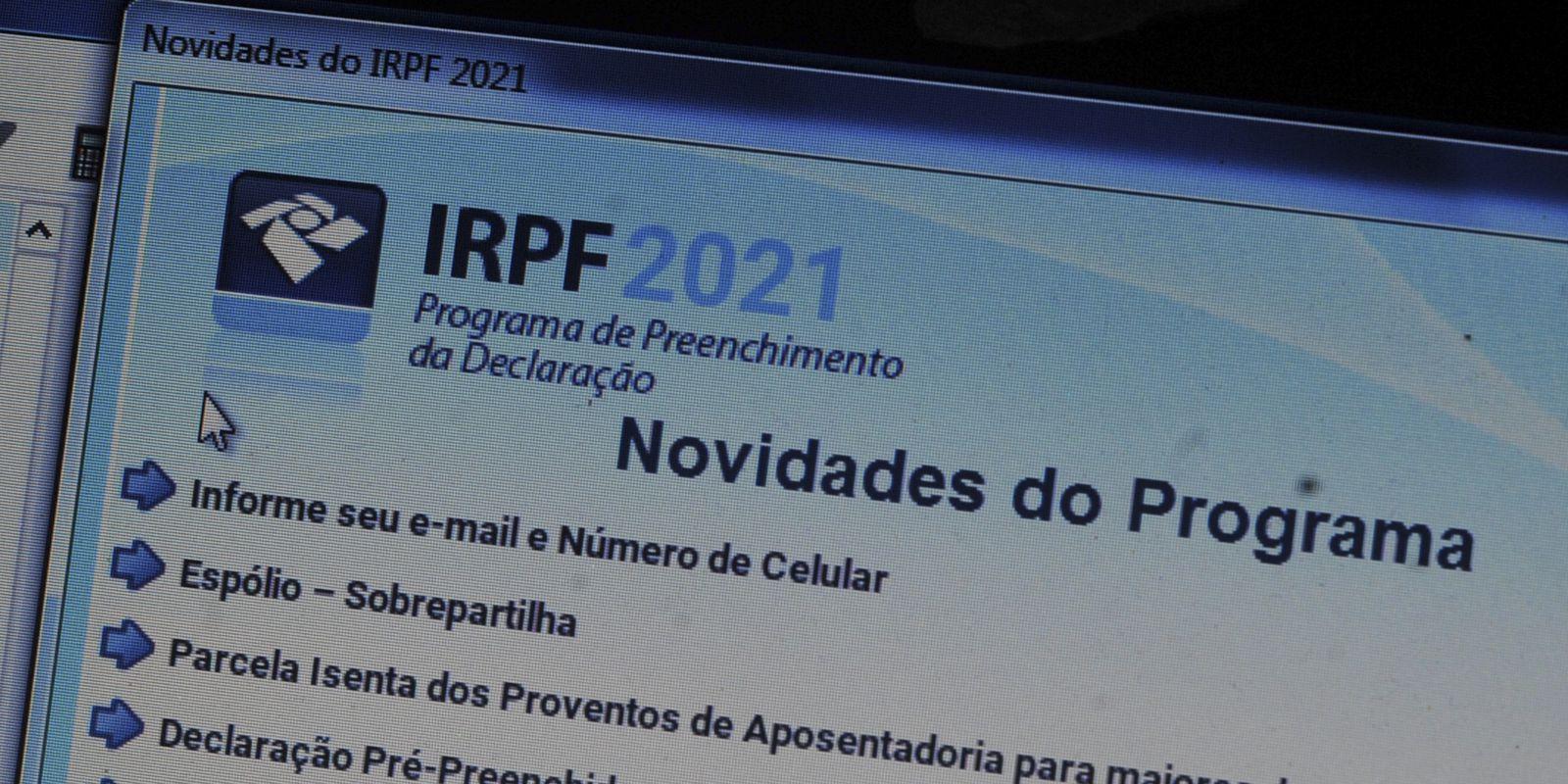 Declaração do Imposto de Renda 2021.