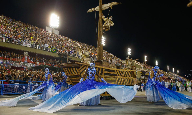 Rio de Janeiro - Desfile da Portela no segundo dia de apresentações do Grupo Especial das Escolas de Samba do Rio, na Sapucaí (Tânia Rêgo/Agência Brasil)