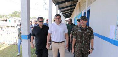 Wilson Lima visita o pelotão de fronteira em Ipiranga