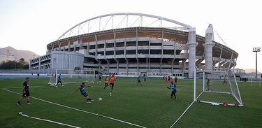 Treino do Botafogo no Estadio Nilton Santos