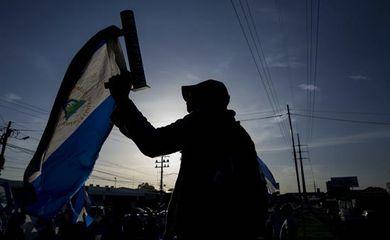 Protesto na cidade de Managuá, na Nicarágua