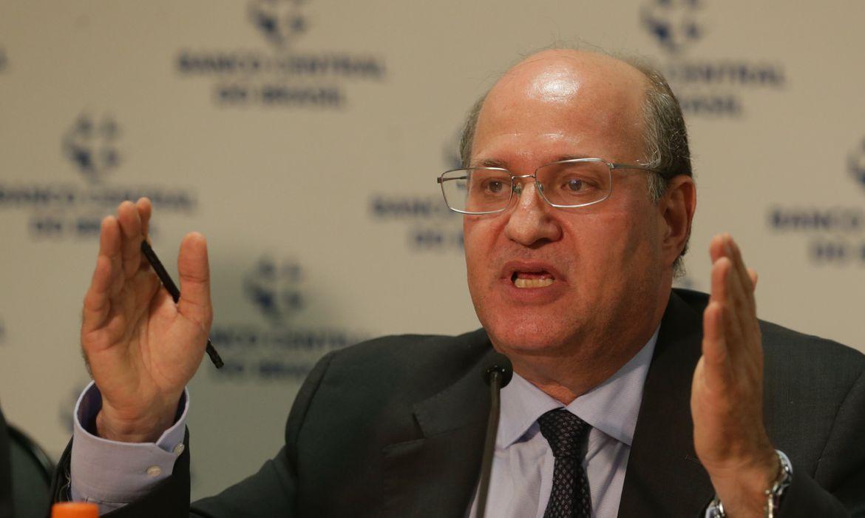 O presidente do Banco Central, Ilan Goldfajn, durante entrevista coletiva sobre o câmbio.